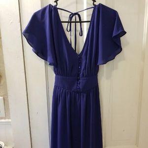 Flowy Feminine Royal Blue Dress